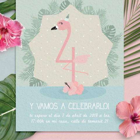 Invitacion flamingo zoom