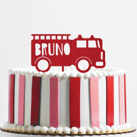 Cake Topper Camion bomberos